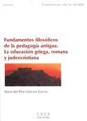Fundamentos filosóficos de la pedagogía antigua