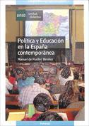 Portada Política y educación en la España contemporánea