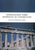 Generalidades sobre materiales de construcción