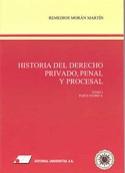 Portada Historia del Derecho Privado, Penal y Procesal