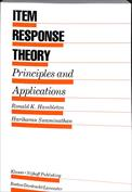 Portada Item Response Theory. Principles and Applications