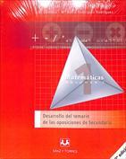 Portada Desarrollo del temario de las oposiciones de Secundaria (Matemáticas)