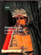 Portada Historia del libro y edición de textos