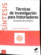 Portada Técnicas de investigación para historiadores