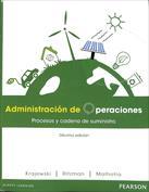 Administración de Operaciones. Procesos y cadena de suministro