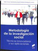 Portada Metodología de la  investigación social. Técnicas innovadoras y sus aplicaciones