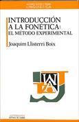 Portada Introducción a la fonética El método experimental