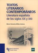 Portada Textos literarios contemporáneos. Literatura española de los siglos XX y XXI