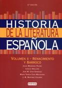 Portada Historia de la Literatura española Vol. II. Renacimiento y Barroco (A)