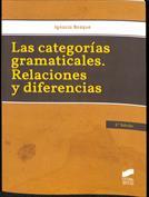 Portada Las categorías gramaticales. Relaciones y diferencias