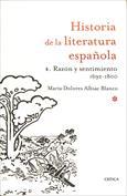 Portada Razón y sentimiento, 1692 1800. Historia de la literatura española 4