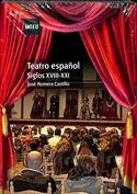 Portada Teatro español. Siglos XVIII XXI