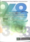 Portada Matemáticas para los grados en Economía y Empresa. Álgebra Lineal. Ejercicios y problemas resueltos