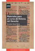 Portada Materiales para un curso de historia del derecho