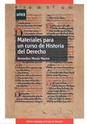 Materiales para un curso de historia del derecho