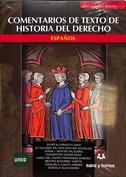 Portada Comentarios de textos de historia del derecho español