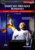 Portada Derecho privado romano. Casos, acciones, instituciones