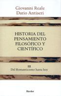 Portada Historia del pensamiento filosófico y científico Vol. III. Del Romanticismo hasta hoy