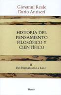 Portada Historia del pensamiento filosófico y científico. Vol. II. Del Humanismo a Kant