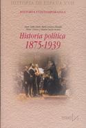 Portada Historia política 1875 1939